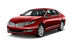 2016 Lincoln MKZ - 4 Door Sedan Angular Front stock photos of front three quarter view