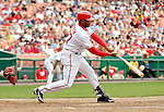 17 May 2007: Washington Nationals infielder Tony Batista at bat against the Atlanta Braves at RFK Stadium in Washington, DC. The Nationals defeated the Braves 4-3 to take the four-game series three games to one...Mandatory Photo Credit: Ed Wolfstein Photo