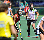 The Hague, Netherlands, June 13: Julia Mueller #28 of Germany looks on during the field hockey placement match (Women - Place 7th/8th) between Korea and Germany on June 13, 2014 during the World Cup 2014 at Kyocera Stadium in The Hague, Netherlands. Final score 4-2 (2-0)  (Photo by Dirk Markgraf / www.265-images.com) *** Local caption ***