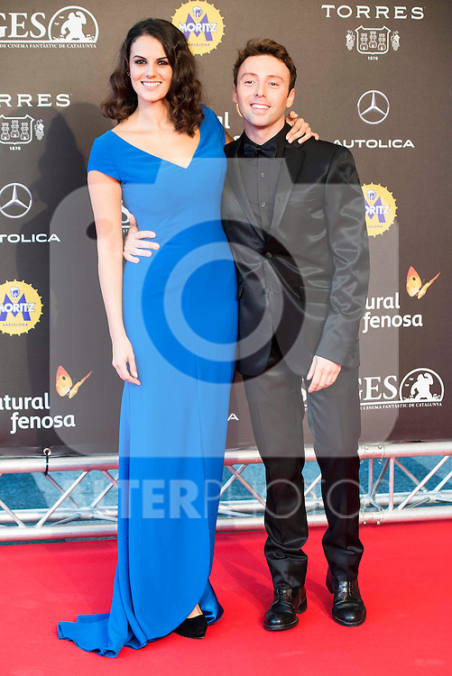 Melina Matthews and Dafnis Balduz during the red carpet of the opening ceremony of the Festival de Cine Fantastico de Sitges in Barcelona. October 07, Spain. 2016. (ALTERPHOTOS/BorjaB.Hojas)