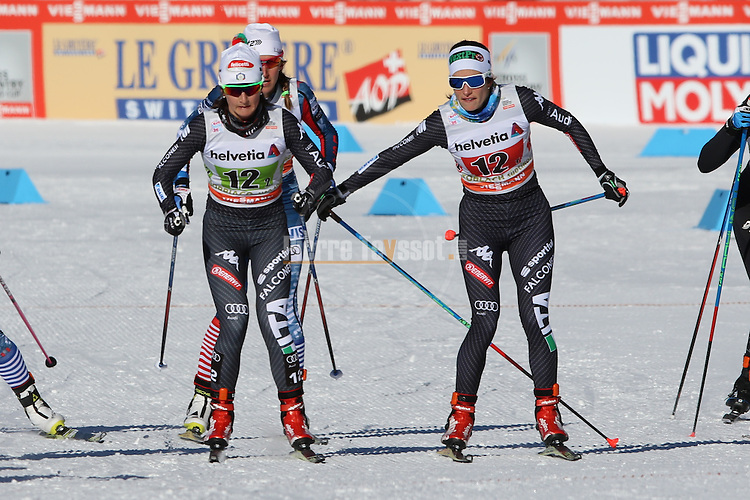 Italy's Team sprint of the FIS Cross Country Ski World Cup  in Dobbiaco, Toblach, on January 15, 2017.  Credit: Pierre Teyssot
