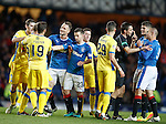 Aggro with Kenny Miller, Rob Kiernan and Steven Andreson with KIernan getting booked