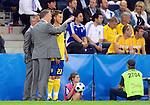 Lars Lagerbäck, Roland Andersson and Markus Rosenberg at Euro 2008 Greece-Sweden 06102008, Salzburg, Austria