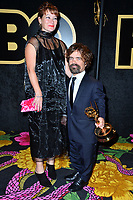 LOS ANGELES, CA. September 17, 2018: Peter Dinklage & Erica Schmidt at The HBO Emmy Party at the Pacific Design Centre.<br /> Picture: Paul Smith/Featureflash