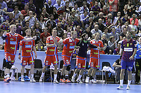 28.04.2012. Barcelona, Spain. Velux EHF Champions League (Quarter Final 2nd Leg). Picture show team during match between FC Barcelona Intersport against AG Copenhagen at Palau Blaugrana