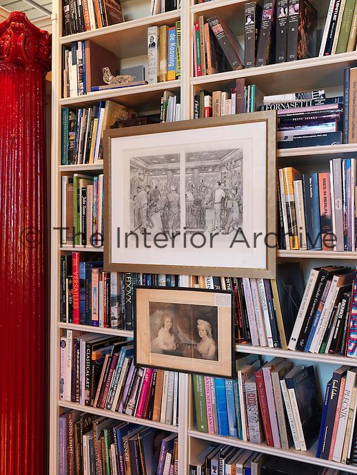 An imaginative way to hang framed prints