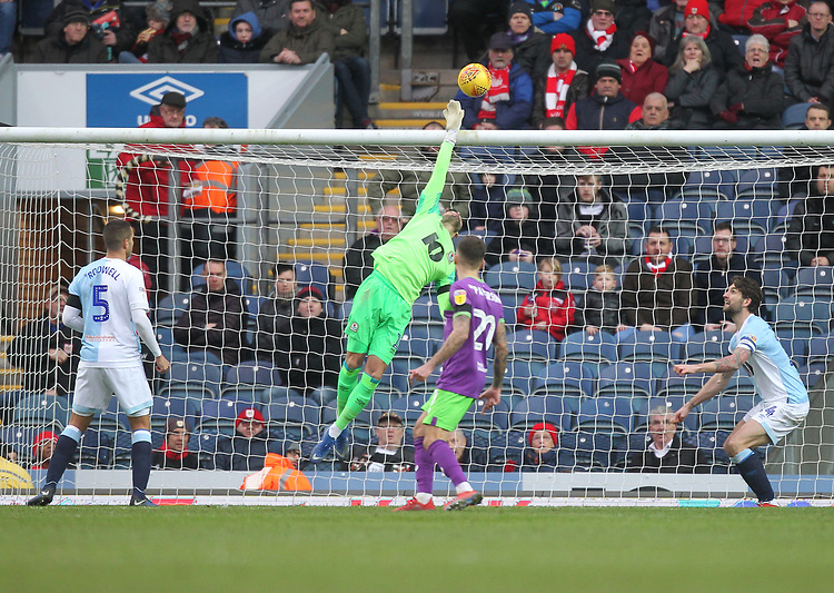 Blackburn Rovers David Raya makes a save<br /> <br /> Photographer Mick Walker/CameraSport<br /> <br /> The EFL Sky Bet Championship - Blackburn Rovers v Bristol City - Saturday 9th February 2019 - Ewood Park - Blackburn<br /> <br /> World Copyright &copy; 2019 CameraSport. All rights reserved. 43 Linden Ave. Countesthorpe. Leicester. England. LE8 5PG - Tel: +44 (0) 116 277 4147 - admin@camerasport.com - www.camerasport.com