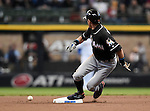 Ichiro Suzuki (Marlins), APRIL 29, 2016 - MLB : Miami Marlins' Ichiro Suzuki gets his 500 steals during the first inning of a baseball game on April 29, 2016 in Milwaukee. (Photo by AFLO)