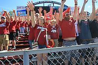 Arkansas Democrat-Gazette/RICK MCFARLAND --09/05/15--  Arkansas's Toledo's during the quarter at War Memorial Stadium in Little Rock Saturday Sept. 12, 2015.