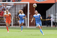 Houston, TX - Saturday April 15, 2017: Vanessa DiBernardo goes after a loose ball during a regular season National Women's Soccer League (NWSL) match won by the Houston Dash 2-0 over the Chicago Red Stars at BBVA Compass Stadium.