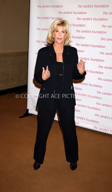 WWW.ACEPIXS.COM . . . . . ....NEW YORK, MAY 3, 2005....Joan Lunden at the Candies Foundation for the Prevention of Teenage Pregnancy held at Gotham Hall.....Please byline: KRISTIN CALLAHAN - ACE PICTURES.. . . . . . ..Ace Pictures, Inc:  ..Craig Ashby (212) 243-8787..e-mail: picturedesk@acepixs.com..web: http://www.acepixs.com