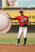 September 7 2009:  Leury Bonilla of the High Desert Mavericks during game against the Modesto Nuts at Maverick Stadium in Adelanto,CA.  Photo by Larry Goren/Four Seam Images