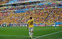 BRASILIA - BRASIL -19-06-2014. Foto: Daniel Jayo / Archivolatino<br /> Juan Quintero (#20) jugador de Colombia (COL) celebra un gol anotado a Costa de Marfil (CIV) durante partido del Grupo C de la Copa Mundial de la FIFA Brasil 2014 jugado en el estadio Mané Garricha de Brasilia./ Juan Quintero (#20) player of Colombia (COL) celebrates a goal scored to Ivory Coast (CIV) during the macth of the Group C of the 2014 FIFA World Cup Brazil played at Mane Garricha stadium in Brasilia. Photo:  Daniel Jayo / Archivo Latino<br /> VizzorImage PROVIDES THE ACCESS TO THIS PHOTOGRAPH ONLY AS A PRESS AND EDITORIAL SERVICE IN COLOMBIA AND NOT IS THE OWNER OF COPYRIGHT; ANOTHER USE IS REPONSABILITY OF THE END USER. NO SALES, NO MERCHANDASING. ALL COPYRIGHT IS ARCHIVOLATINO