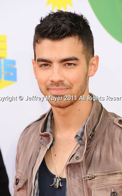 LOS ANGELES, CA - APRIL 02: Joe Jonas arrives at Nickelodeon's 24th Annual Kids' Choice Awards at Galen Center on April 2, 2011 in Los Angeles, California.