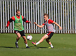 Matt Done of Sheffield Utd and Louis Reed of Sheffield Utd during the Sheffield Utd training session at the Shirecliffe Training Complex , Sheffield. Picture date: September 29th, 2016. Pic Simon Bellis/Sportimage