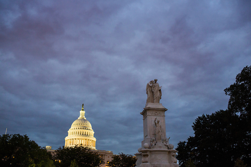 The U.S. Capitol at sunrise in Washington on the first day of a federal government shutdown since 1996.