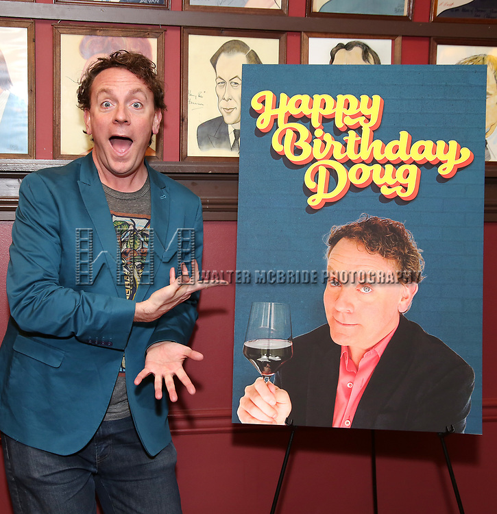 """Drew Deoege During the """"Happy Birthday Doug"""" photo call at Sardi's Restaurant on February 5, 2020 in New York City."""
