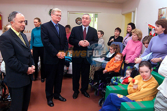 Taoiseach Bertie Ahern in the St. John of God Centre..Picture: Paul Mohan/Newsfile