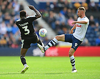 Preston North End's Louis Moult vies for possession with Reading's Andy Yiadom<br /> <br /> Photographer Chris Vaughan/CameraSport<br /> <br /> The EFL Sky Bet Championship - Preston North End v Reading - Saturday 15th September 2018 - Deepdale - Preston<br /> <br /> World Copyright &copy; 2018 CameraSport. All rights reserved. 43 Linden Ave. Countesthorpe. Leicester. England. LE8 5PG - Tel: +44 (0) 116 277 4147 - admin@camerasport.com - www.camerasport.com