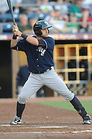 Empire State catcher Francisco Cerevelli #3 swings at a pitch during a game against the Durham Bulls  at Durham Bulls Athletic Park on June 8, 2012 in Durham, North Carolina . The Yankees defeated the Bulls 3-1. (Tony Farlow/Four Seam Images).