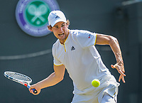 London, England, 6 th July, 2017, Tennis,  Wimbledon, Dominic Thiem (AUT)<br /> Photo: Henk Koster/tennisimages.com