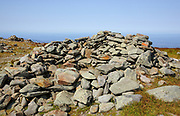 The summit of Mount Moosilauke in the White Mountains in the town of Benton, New Hampshire during the summer months. The Appalachian Trail travels over this mountain.