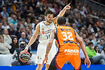 Real Madrid Facundo Campazzo and Valencia Basket Erick Green during Liga Endesa match between Real Madrid and Valencia Basket at Wizink Center in Madrid , Spain. March 25, 2018. (ALTERPHOTOS/Borja B.Hojas)