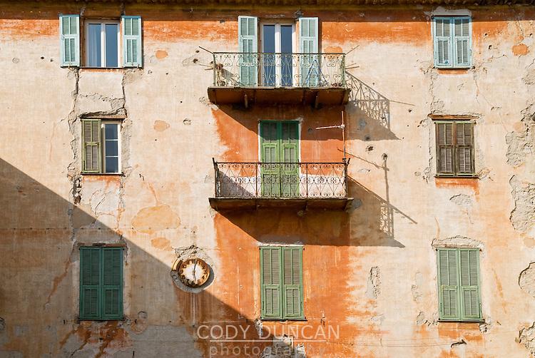 front of old building, Sospel, France