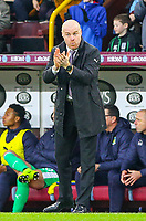 Burnley manager Sean Dyche applauds his team as they take the lead<br /> <br /> Photographer Alex Dodd/CameraSport<br /> <br /> The Premier League - Burnley v West Ham United - Sunday 30th December 2018 - Turf Moor - Burnley<br /> <br /> World Copyright © 2018 CameraSport. All rights reserved. 43 Linden Ave. Countesthorpe. Leicester. England. LE8 5PG - Tel: +44 (0) 116 277 4147 - admin@camerasport.com - www.camerasport.com