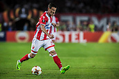 14th September 2017, Red Star Stadium, Belgrade, Serbia; UEFA Europa League Group stage, Red Star Belgrade versus BATE; Midfielder Slavoljub Srnic of Red Star Belgrade in action