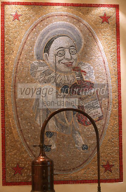 Europe/France/Pays de la Loire/49/Maine-et-Loire/Env d'Angers/ Saint-Barthelemy d'Anjou: Musee Cointreau Detail Ceramique