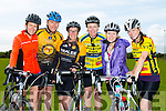 Members of Tralee Triatlon club.Front l-r Bridget Moore, Damien Morrison, Sinead Kelleher, Maeve Ryan, Kathleen Reidy and Joanne Allman at Pedal the peninsula  run by Sliabh Mish Spinners Cycling Club in association with Keel Palliative Care Fundraising Group and Keel GAA. on Sunday