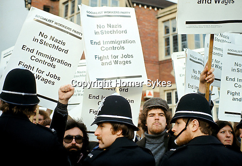SWP Socialist Workers Party supporters in Stechford Birmingham 1970's