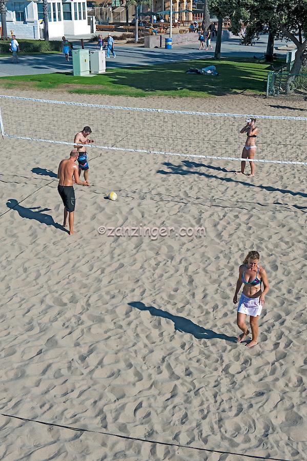 Santa Monica beach Volleyball, Santa Monica CA, Pier, Pacific Park