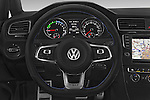 Car pictures of steering wheel view of a 2015 Volkswagen Golf GTE 5 Door Hatchback 2WD Steering Wheel