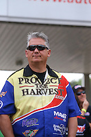 May 11, 2013; Commerce, GA, USA: NHRA pro stock driver Rodger Brogdon during the Southern Nationals at Atlanta Dragway. Mandatory Credit: Mark J. Rebilas-