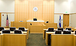 TORRINGTON, CT-062217JS03- One of the courtrooms inside the new Litchfield Judicial District Courthouse in Torrington. <br /> Jim Shannon Republican-American