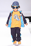Model walks runway in an outfit from the  during the Kids Rock fashion show presented by Haddad Brands, during Mercedes-Benz Fashion Week Fall 2015.