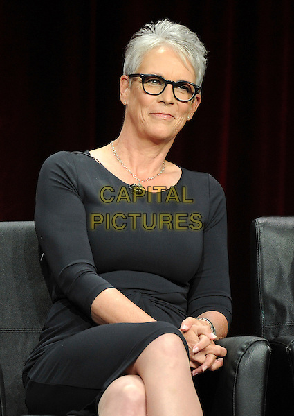 BEVERLY HILLS, CA - AUGUST 6: Jamie Lee Curtis onstage at the 'Scream Queens' panel during the 2015 FOX Summer TCA tour at the Beverly Hilton Hotel on August 6, 2015 in Beverly Hills, California. <br /> CAP/MPI/PGFM<br /> &copy;PGFM/MPI/Capital Pictures