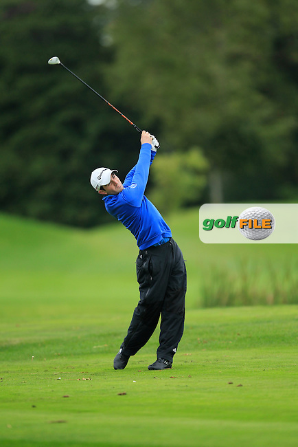 Brendan Walton (Island G.C) on the 15th tee during Round 3 of The Cassidy Golf 103rd Irish PGA Championship in Roganstown Golf Club on Saturday 12th October 2013.<br /> Picture:  Thos Caffrey / www.golffile.ie