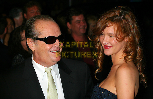 "JACK NICHOLSON & GUEST.attends the  premiere of ""The Departed"" to Benefit the Film Foundation at the  Ziegfeld Theatre, New York, NY, USA,.26 September 2006..portrait headshot sunglasses.Ref: IW.www.capitalpictures.com.sales@capitalpictures.com.©Ian Wilson/Capital Pictures"