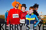 Andrew Sandalson, Karen Soffe, Tom Brett at the Tralee Musical Society 5k Fancy Dress Fun Run  from the Tralee Wetlands on Sunday
