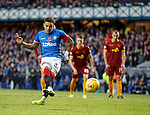11.11.2018 Rangers v Motherwell: James Tavernier scores from the penalty spot to restore Rangers lead