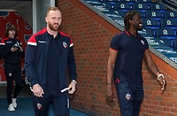 Bolton Wanderers' Ben Alnwick and Clayton Donaldson pictured before the match<br /> <br /> Photographer Andrew Kearns/CameraSport<br /> <br /> The EFL Sky Bet Championship - Blackburn Rovers v Bolton Wanderers - Monday 22nd April 2019 - Ewood Park - Blackburn<br /> <br /> World Copyright © 2019 CameraSport. All rights reserved. 43 Linden Ave. Countesthorpe. Leicester. England. LE8 5PG - Tel: +44 (0) 116 277 4147 - admin@camerasport.com - www.camerasport.com