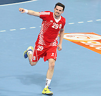25.01.2013 Barcelona, Spain. IHF men's world championship, 3º/4º place. Picture show Ivan Nincevic in action during game between Slovenia vs Croatia at Palau St. Jordi