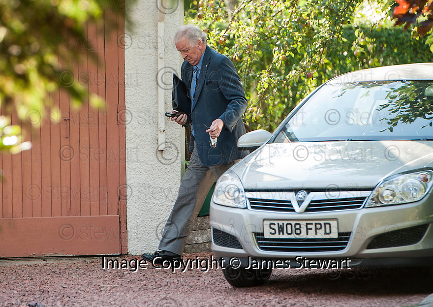 Disgraced MSP Bill Walker arrives back at his home, Ragner House, around 5.30 pm on the 4th Sept 2013.