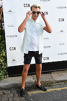 Harry Derbidge<br /> arrives for the Amy Childs Summer Collection show at Beach Blanket Babylon, Notting Hill, London.<br /> <br /> <br /> ©Ash Knotek  D3129  06/06/2016