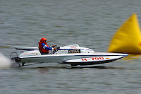 "N-700 ""Miss Sapphire"", 1961 Lauterbach 225 class hydroplane..2004 Madison Regatta, Madison, Indiana, July 4, 2004..F. Peirce Williams .photography.P.O.Box 455 Eaton, OH 45320.p: 317.358.7326  e: fpwp@mac.com."