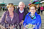 Pictured at Killarney Races on Monday, from left: Julienne Donegan, Paudie Hanrahan and Eileen Hanrahan, all from Moyvane..