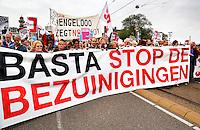 Protest in 2013 tegen de bezuinigingen van het kabinet Rutte